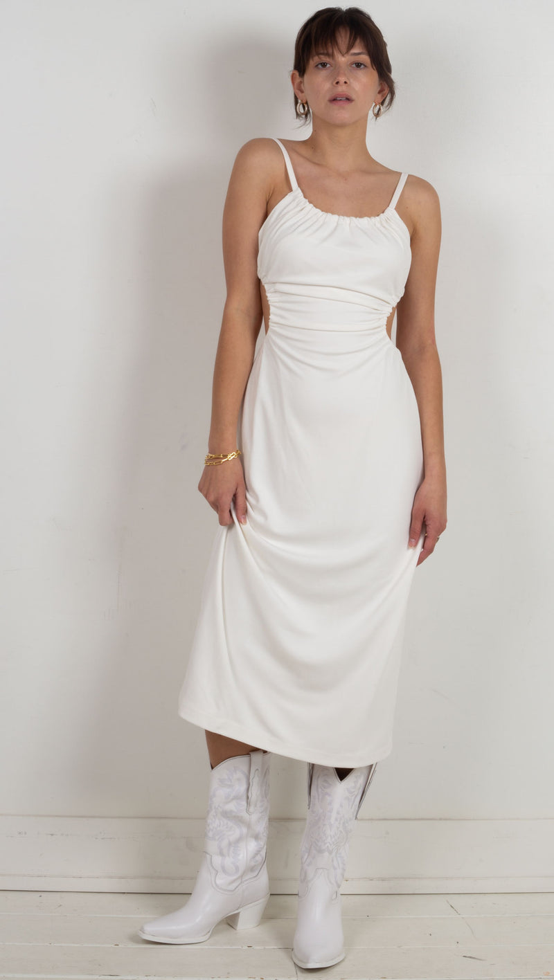 Pull In Midi Dress - Off White