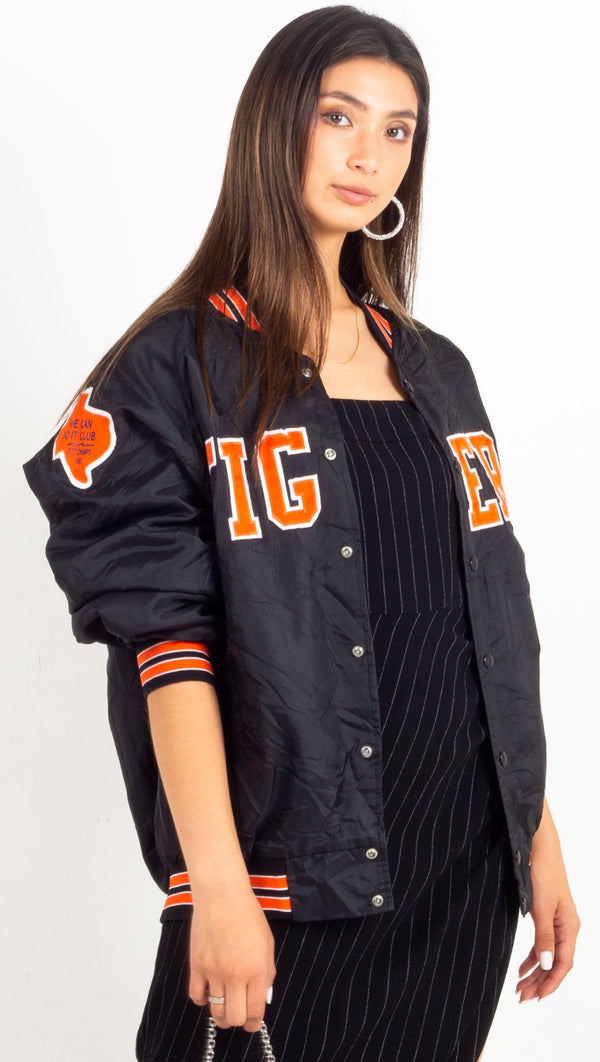 over sized sports jacket tigers black