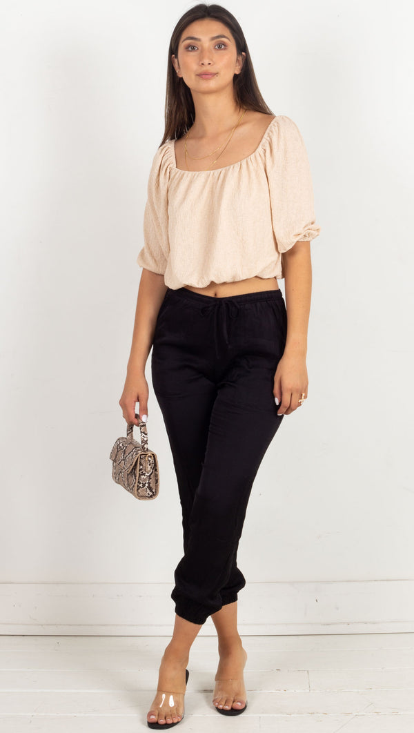Skye Crop Top - Beige