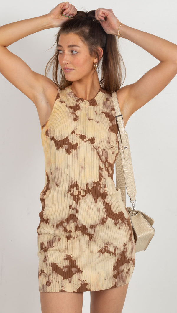 Ibiza Tank Dress - Java Splatter