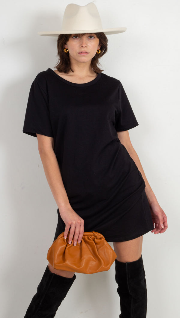 Mollie Mini Tee Dress - Black