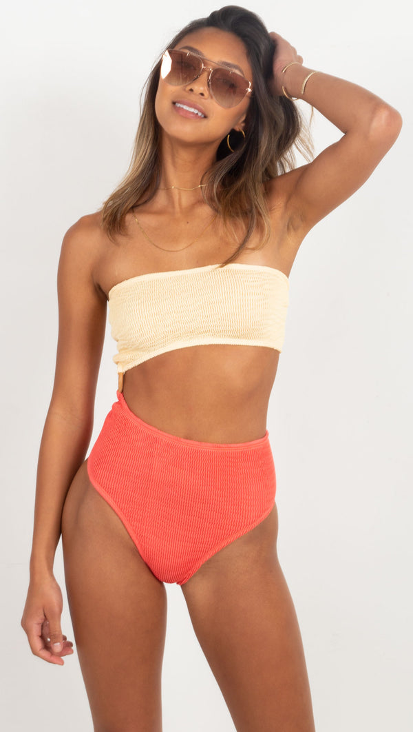 Swell Maillot One Piece - Butter and Pink