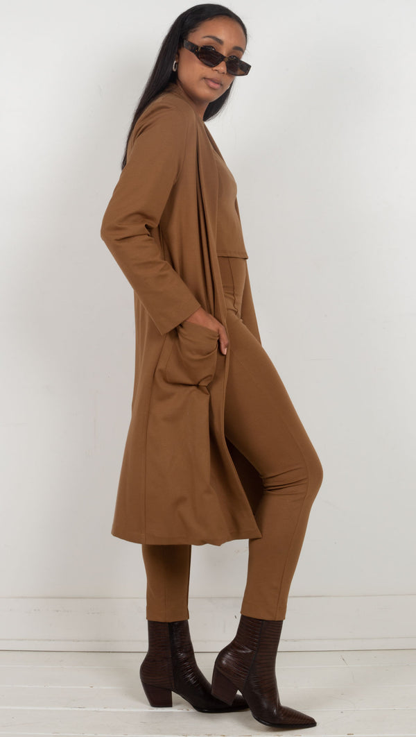 long blazer soft blazer brown