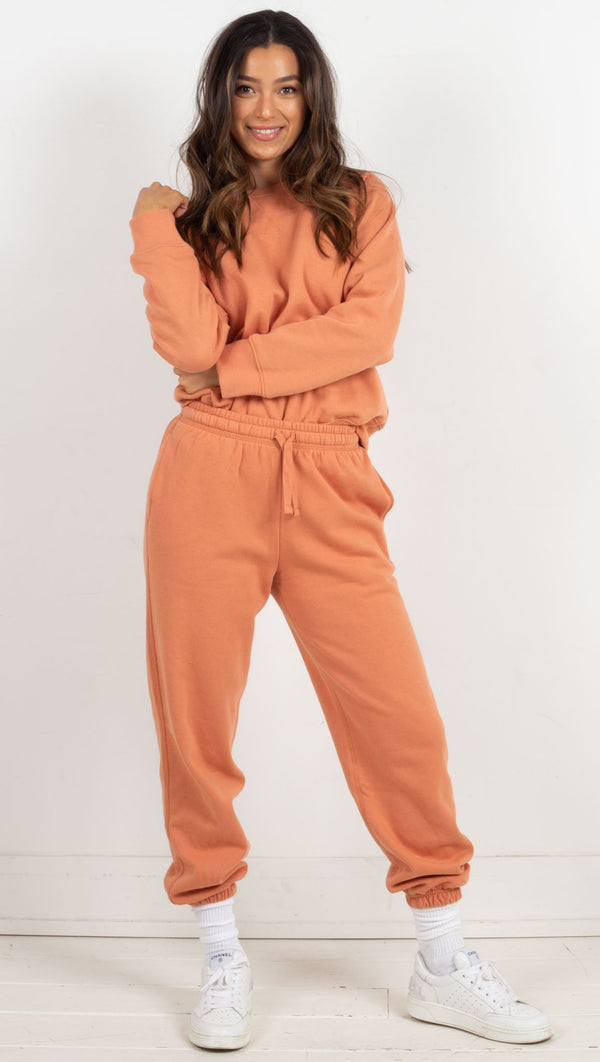 recycled jogger pants orange