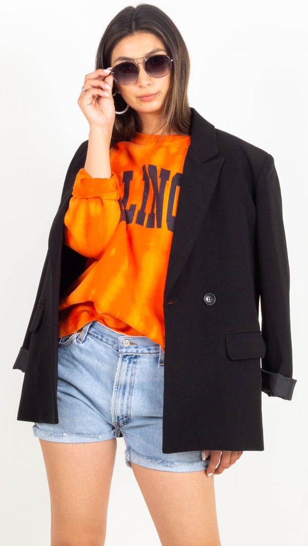 illinois tie dye sweatshirt orange