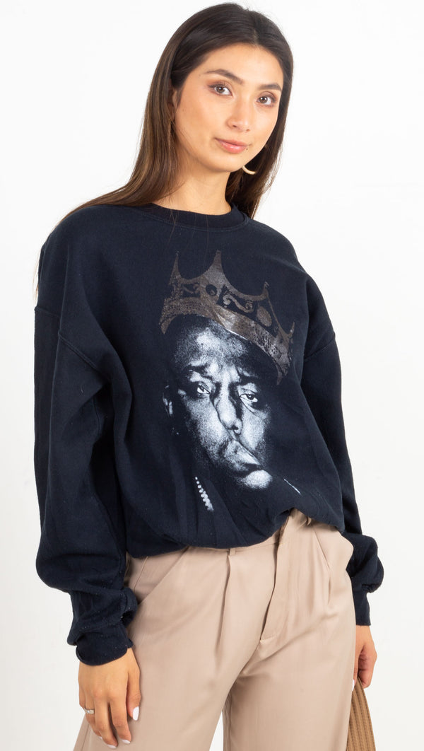 biggie graphic sweatshirt black
