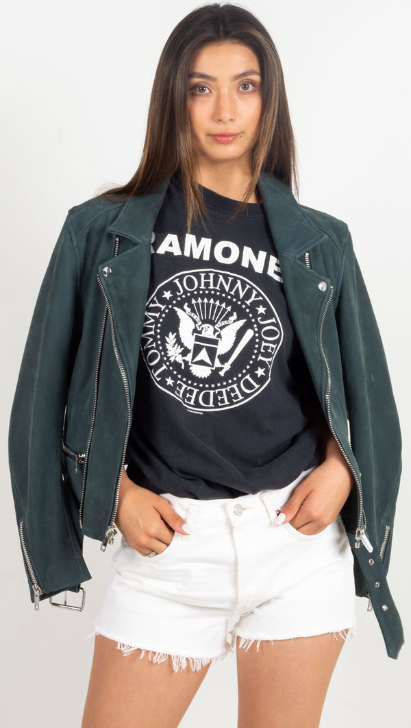ramones graphic tee black