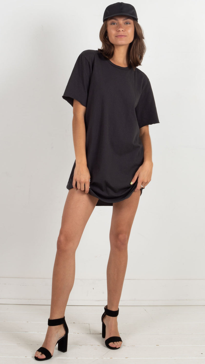 Zepplin Tee Dress - Vintage Black