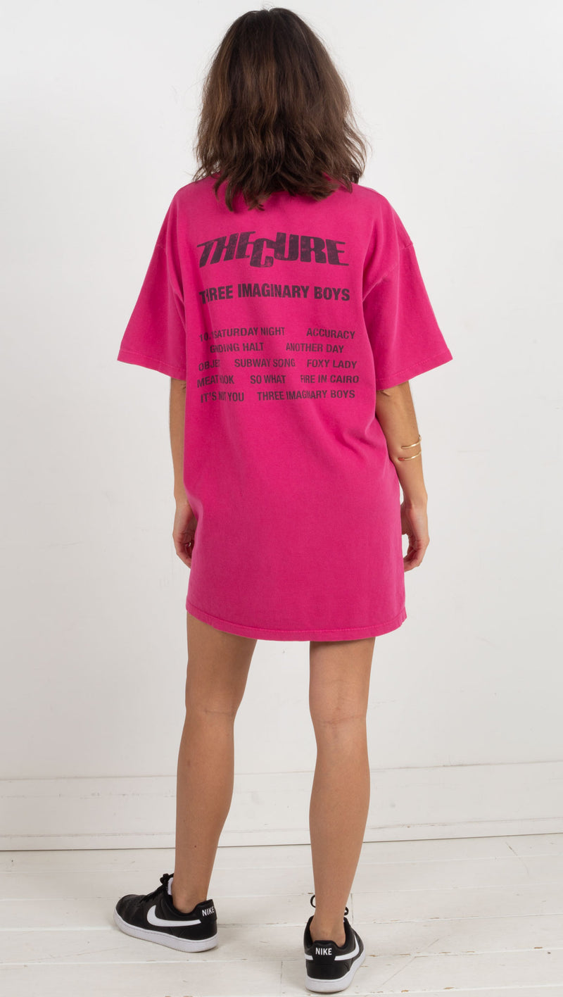 The Cure Imaginary Boys T-Shirt Dress - Passionfruit Pigment
