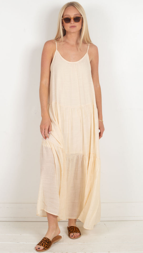 Tiered Maxi Dress - Vanilla