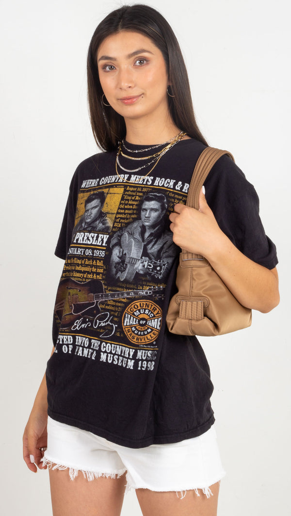 Vintage Elvis Rock & Roll Tee - Black