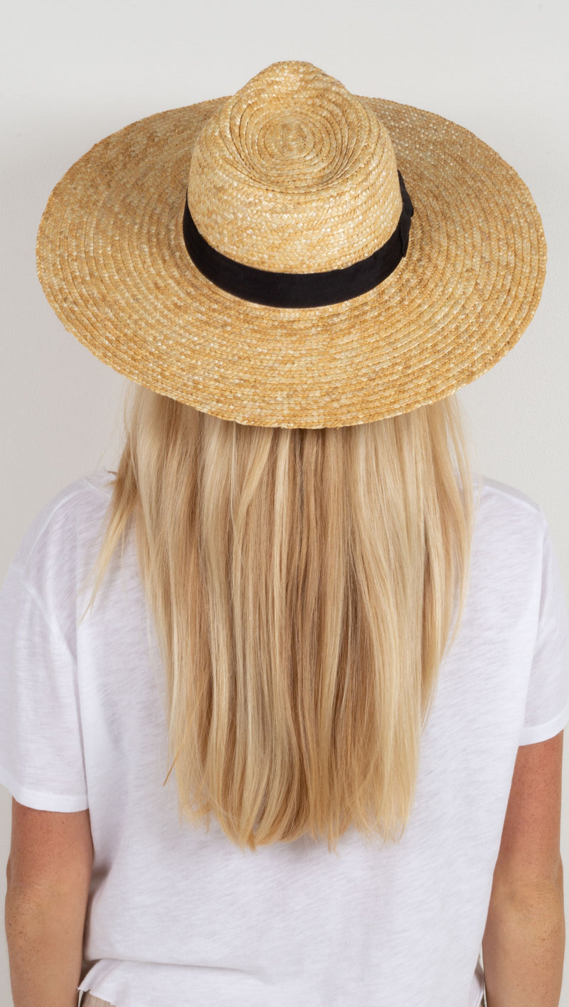 The Spencer Wide Brimmed Fedora - Natural Woven Straw