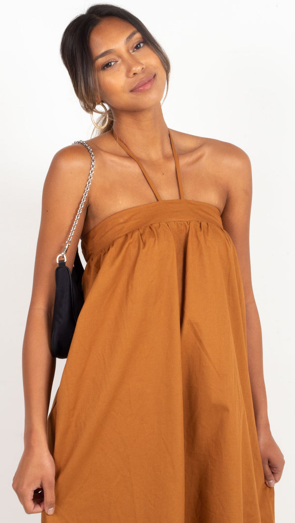 Normani Dress - Walnut