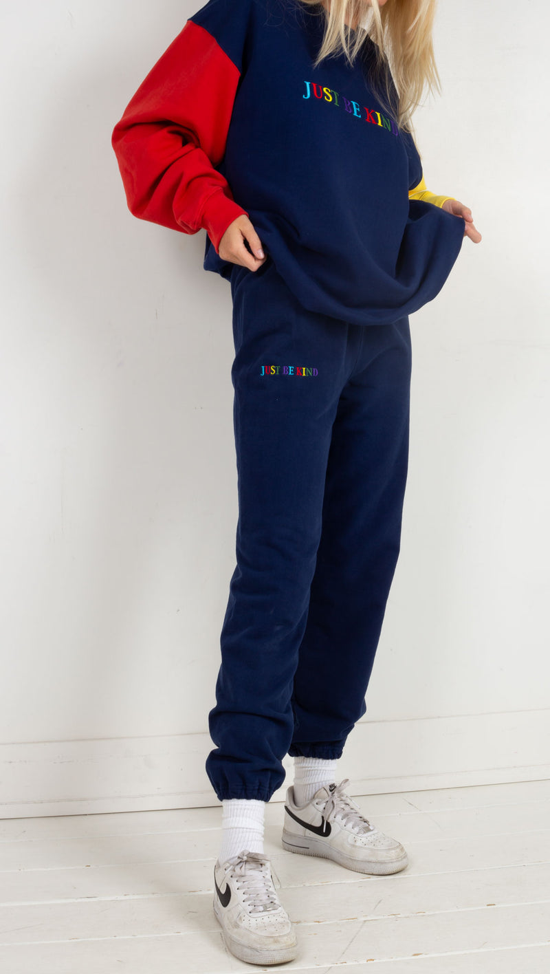 Just Be Kind Sweatpants - Navy