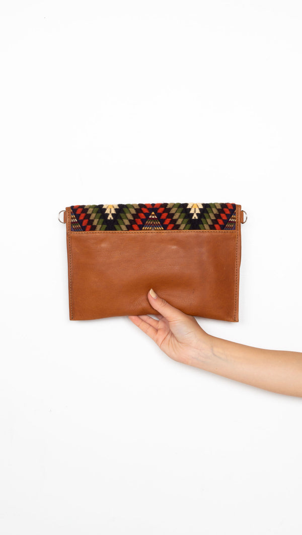 Ace Clutch - Tan/Sierra Jean
