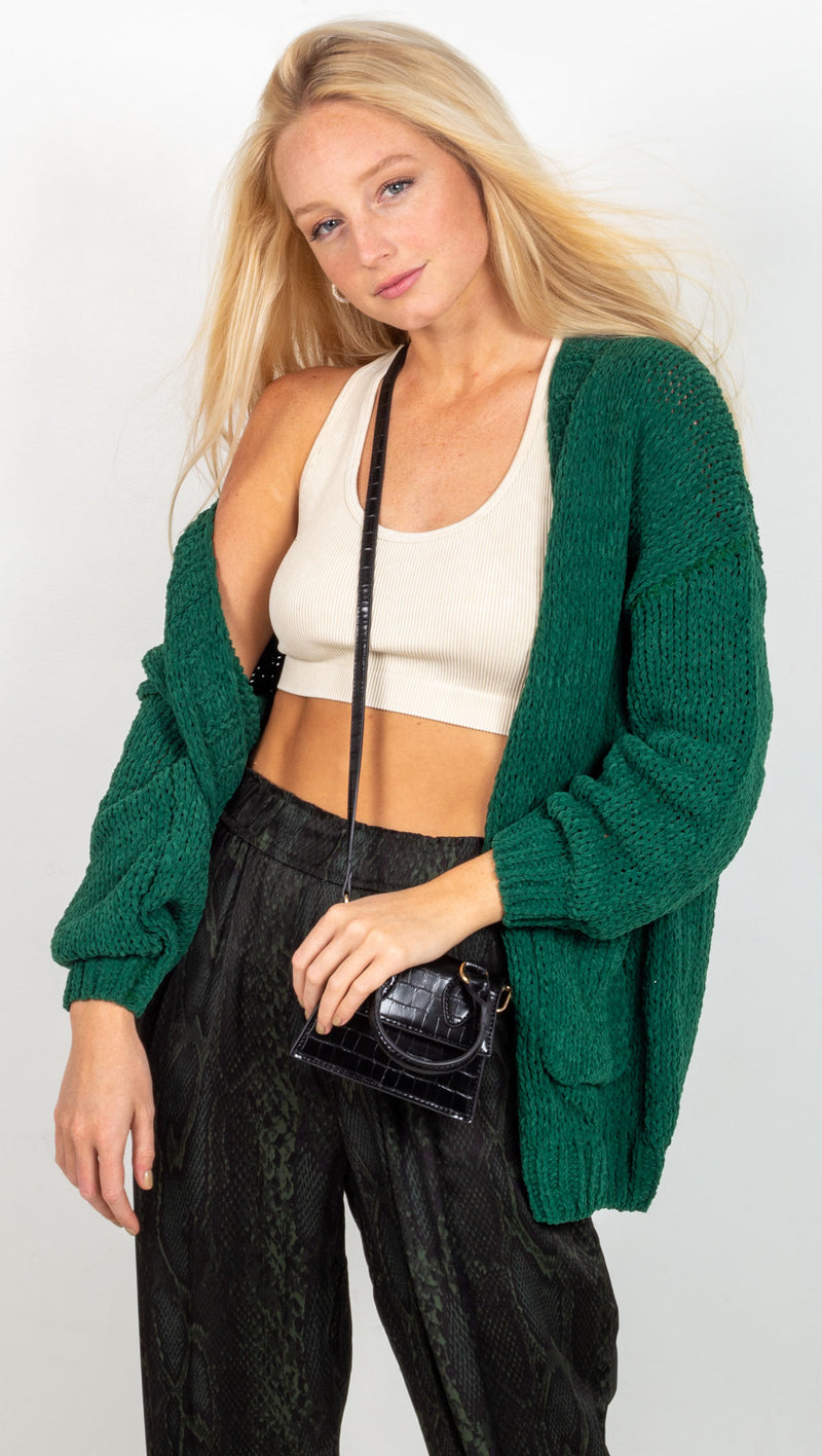 animari knit cardigan green