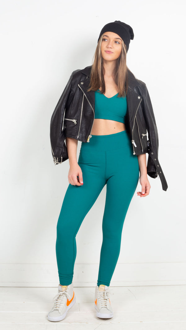 Thermal High High Legging - Winter Green