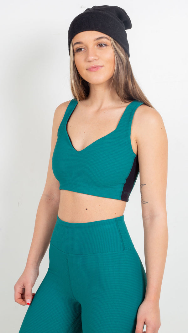 Thermal Slope Bra - Winter Green/Black