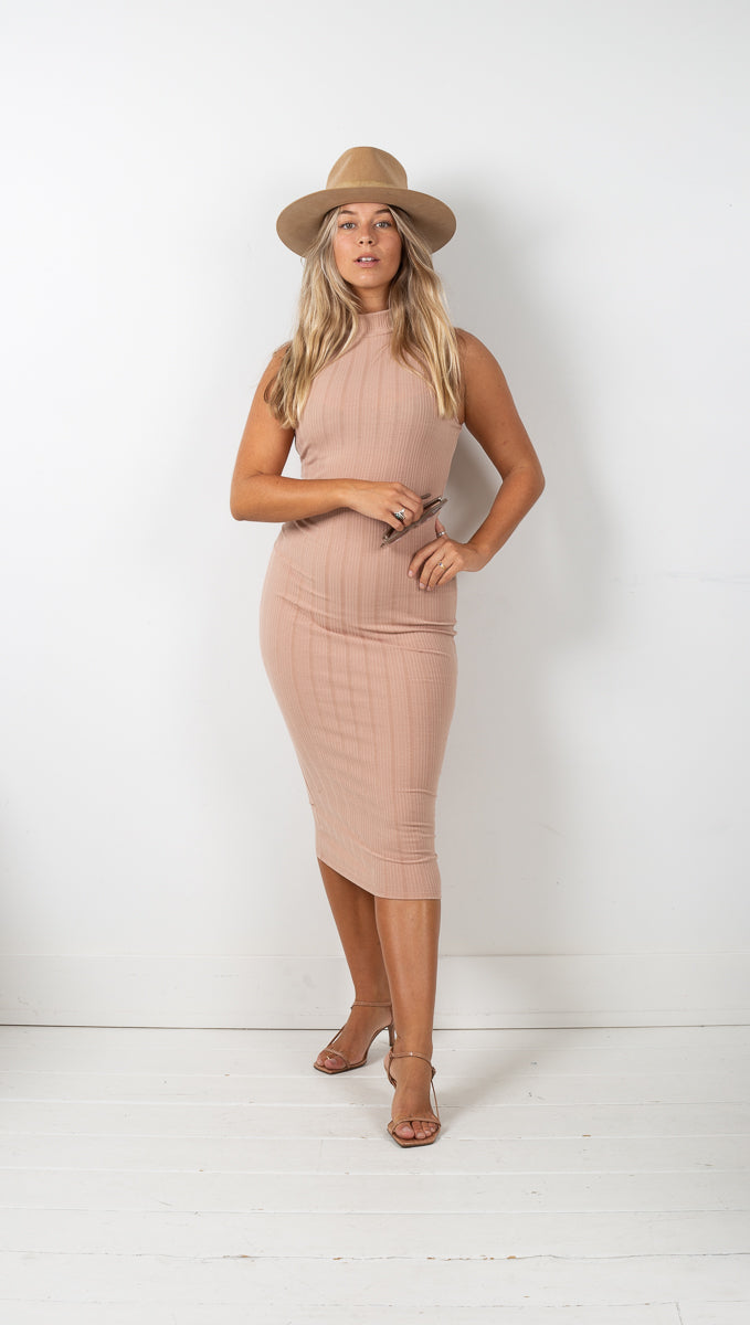 Kourtney Bodycon Midi - Tan