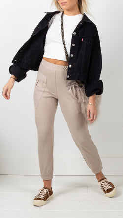 Everyday Thermal Jogger Pants - Taupe