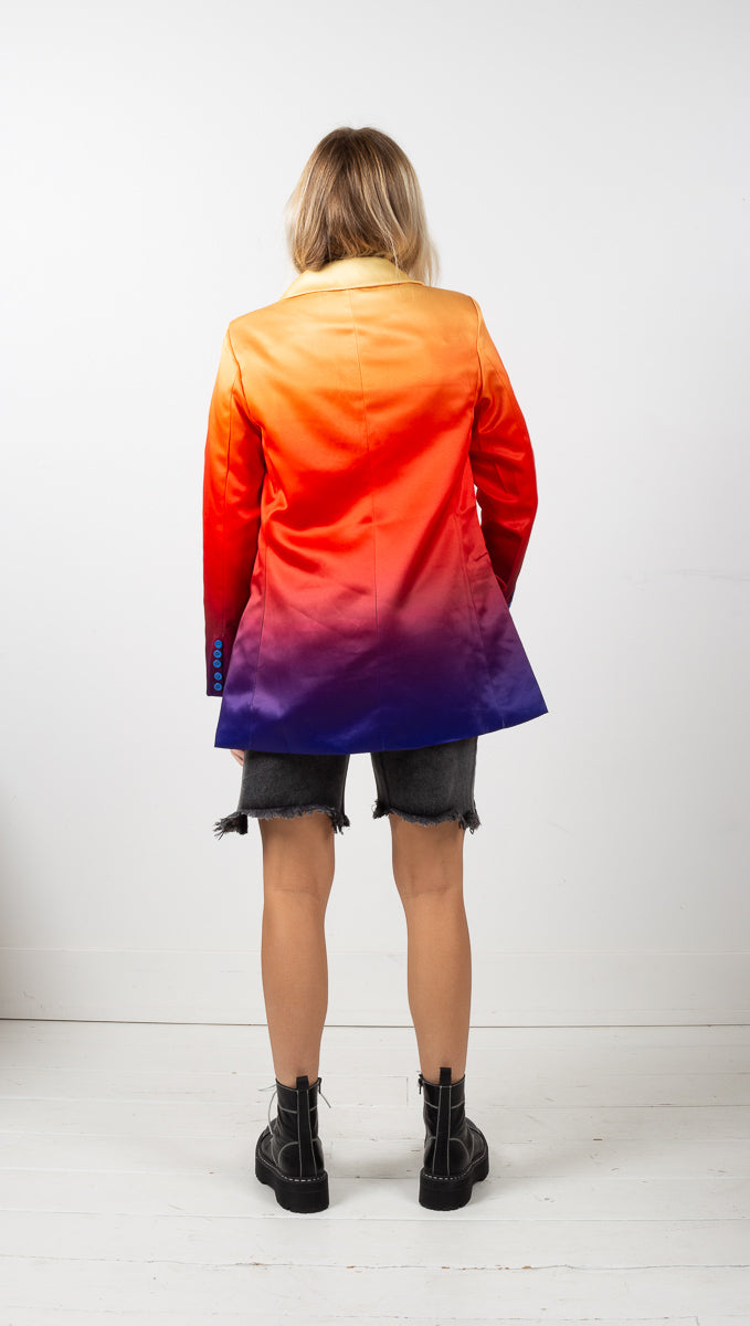 Sunset Oversized Blazer - Rainbow