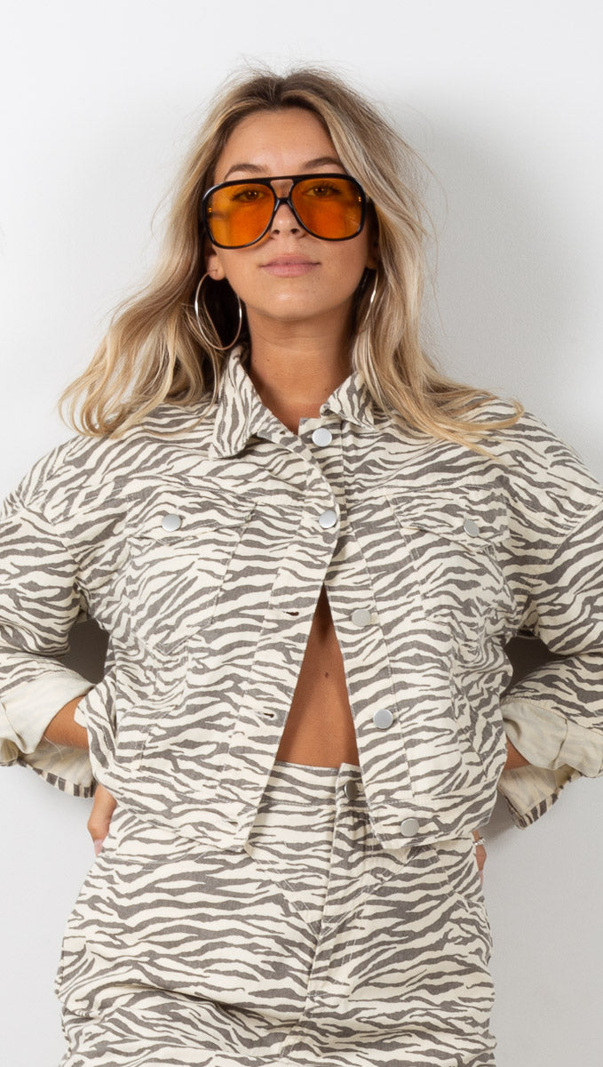 Zebra Stripe Jacket - Black/White