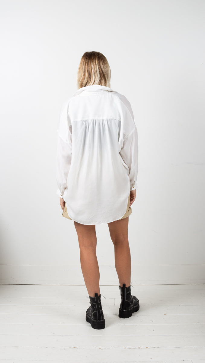 Kinsley Long Sleeve Button Down - Off White