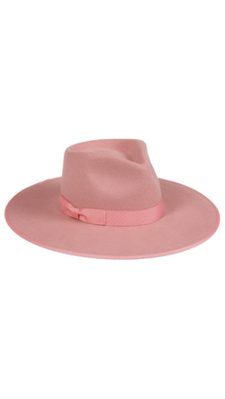 Lack Of Color Pink Rancher With Wide Brim