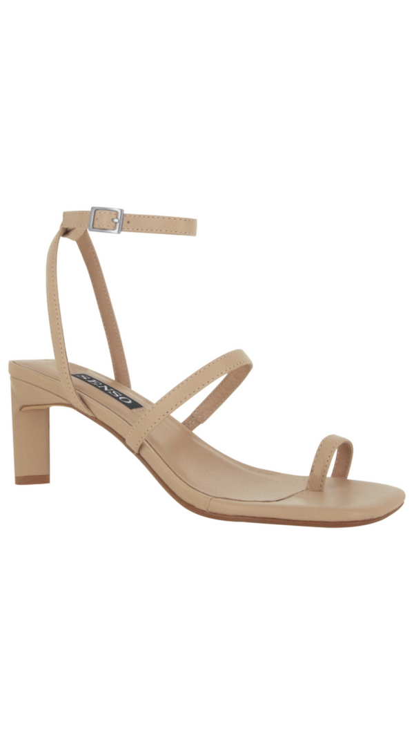 Senso nude leather strappy heels
