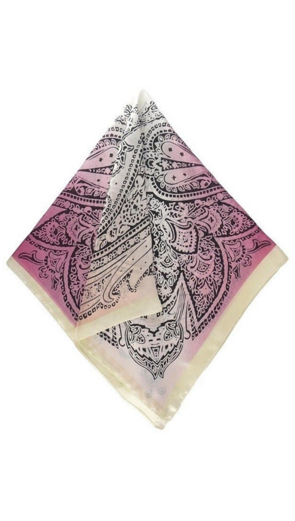 So Silky Scarf - Gradient Paisley Print Peach