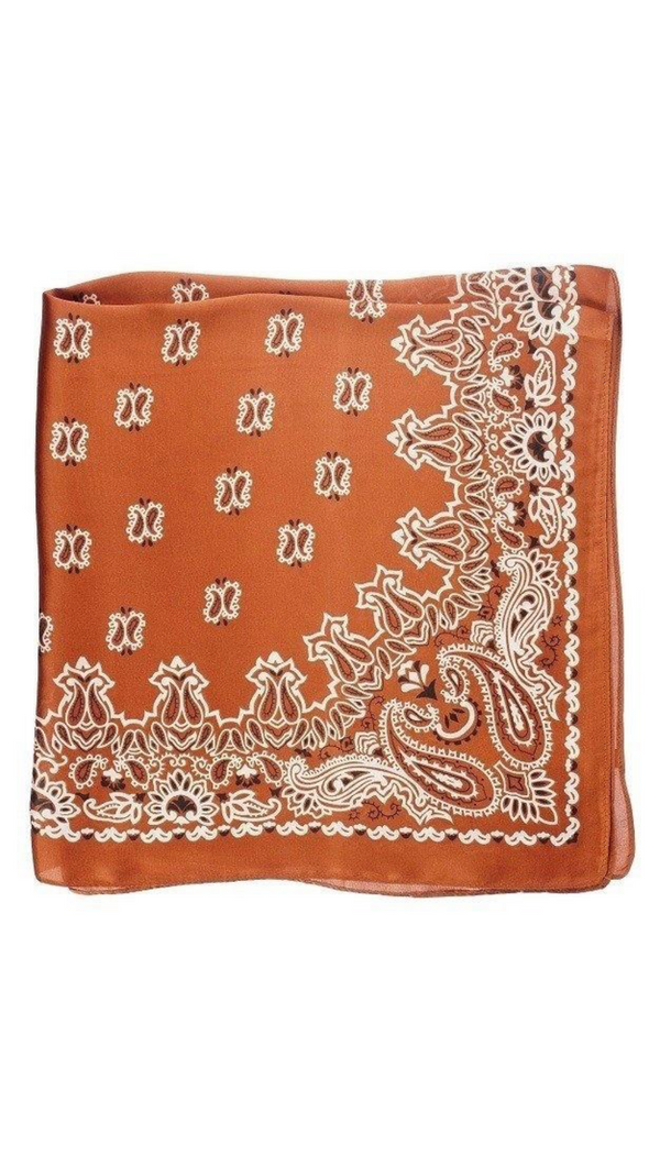 So Silky Scarf - Vintage Paisley Rust