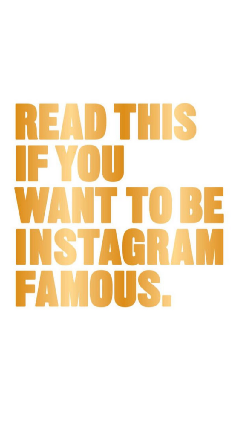 Henry Carroll Read This If You Want To Be Instagram Famous Book - How To Grow Your Instagram Following