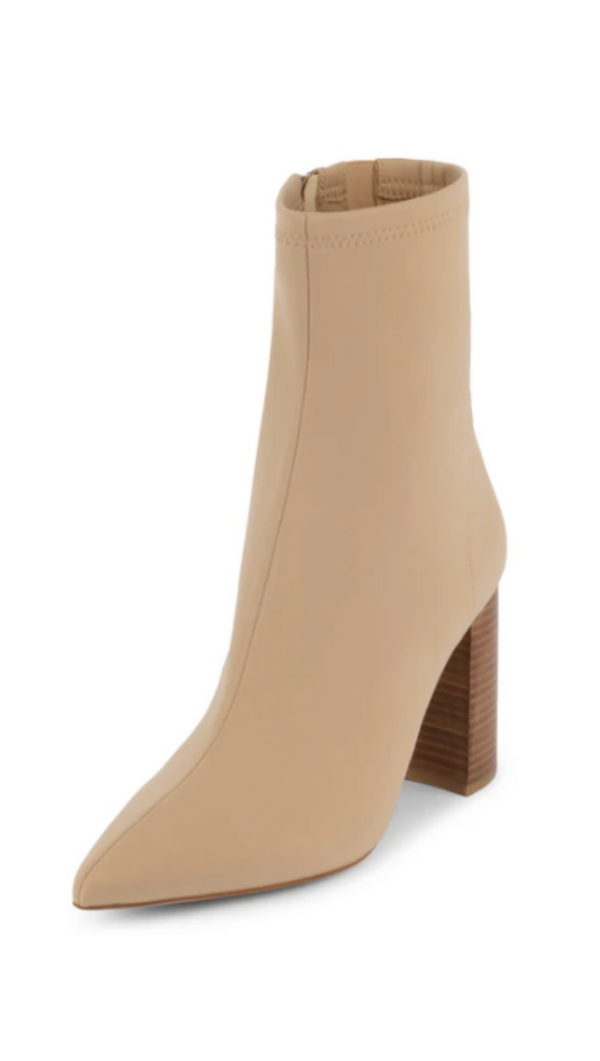 Jeffrey Campbell Nude Neoprene Booties With Pointed Toe
