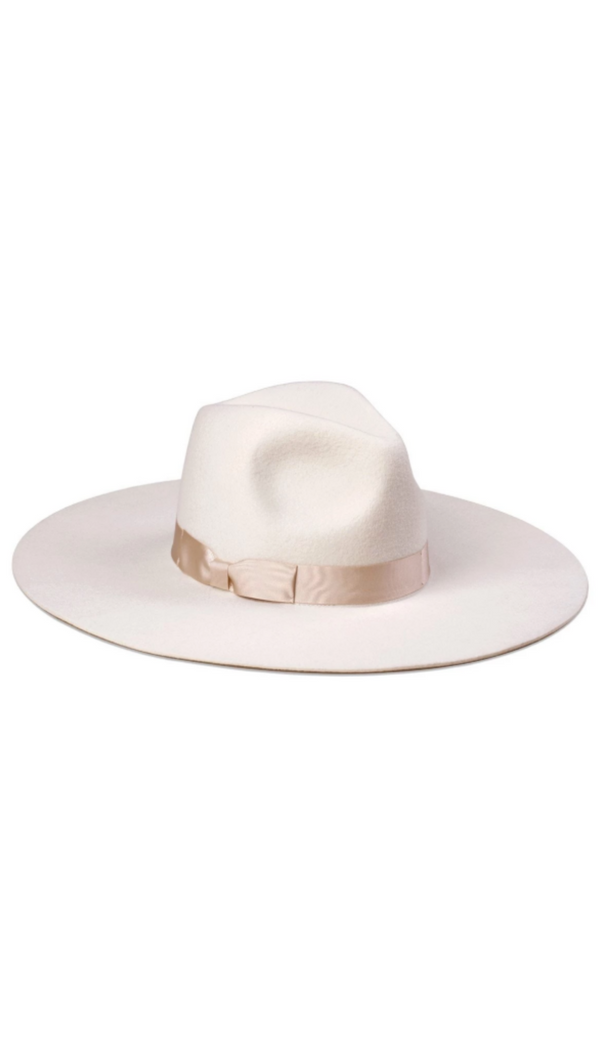 Lack of Color Ivory Wide Brim Wool Hat
