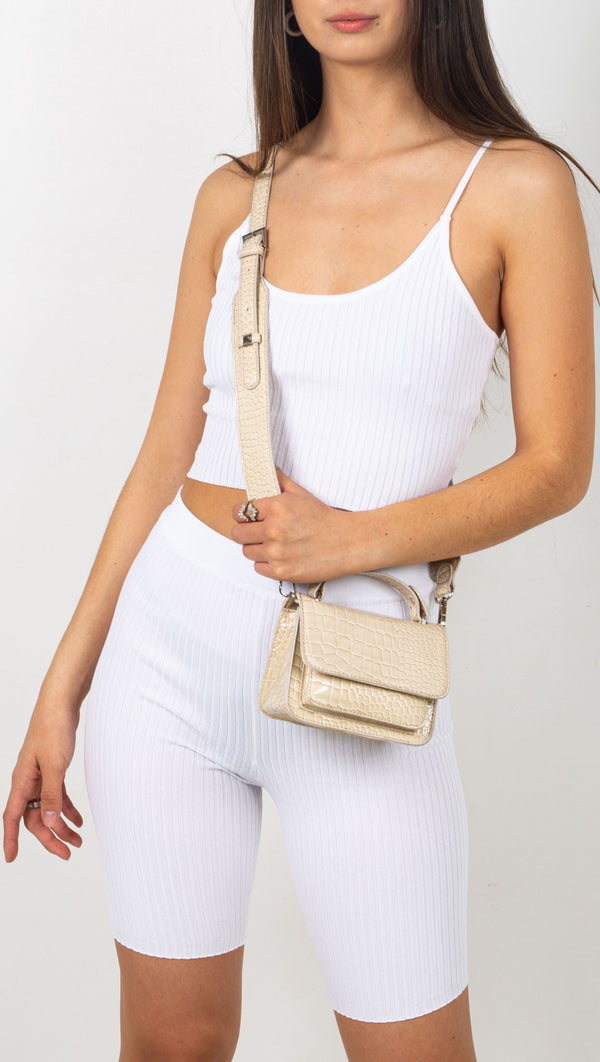 stpl ribbed set white