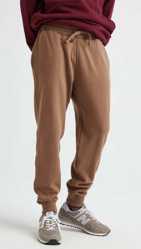 Richer Poorer Men's Brown Fleece Sweatpant