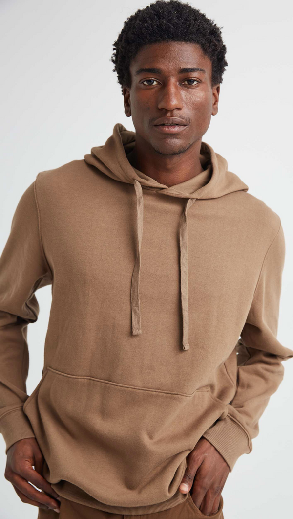 Richer Poorer Men's Brown Fleece Hooded Sweatshirt