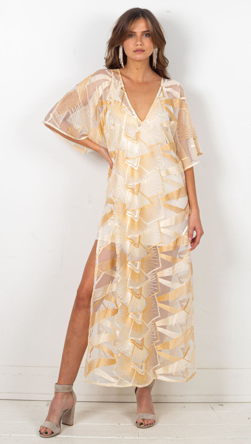 Spirit Rock Kaftan w/ Slip - Desert Moonrise