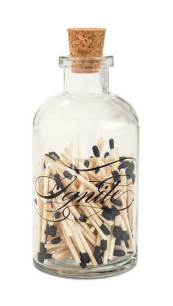Skeem Design apothecary glass match jar and cork
