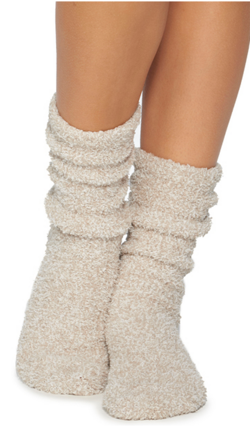 Cozychic Women's Heathered Socks - Stone White (1 Pair)