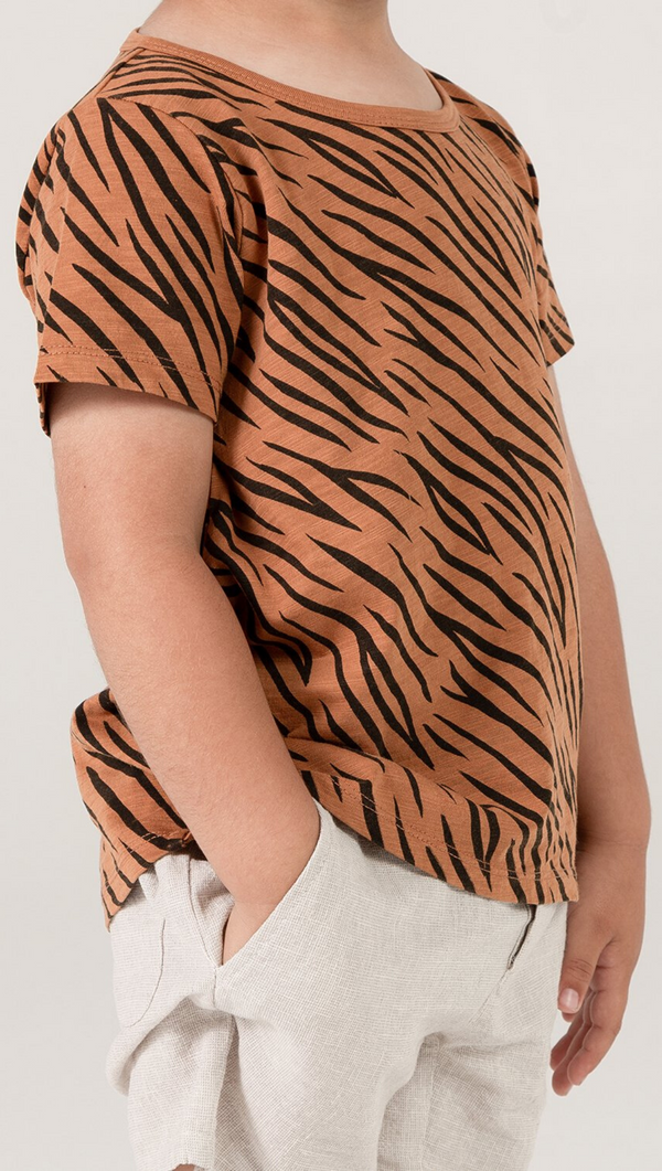 Tiger Stripe Basic Tee - Bronze