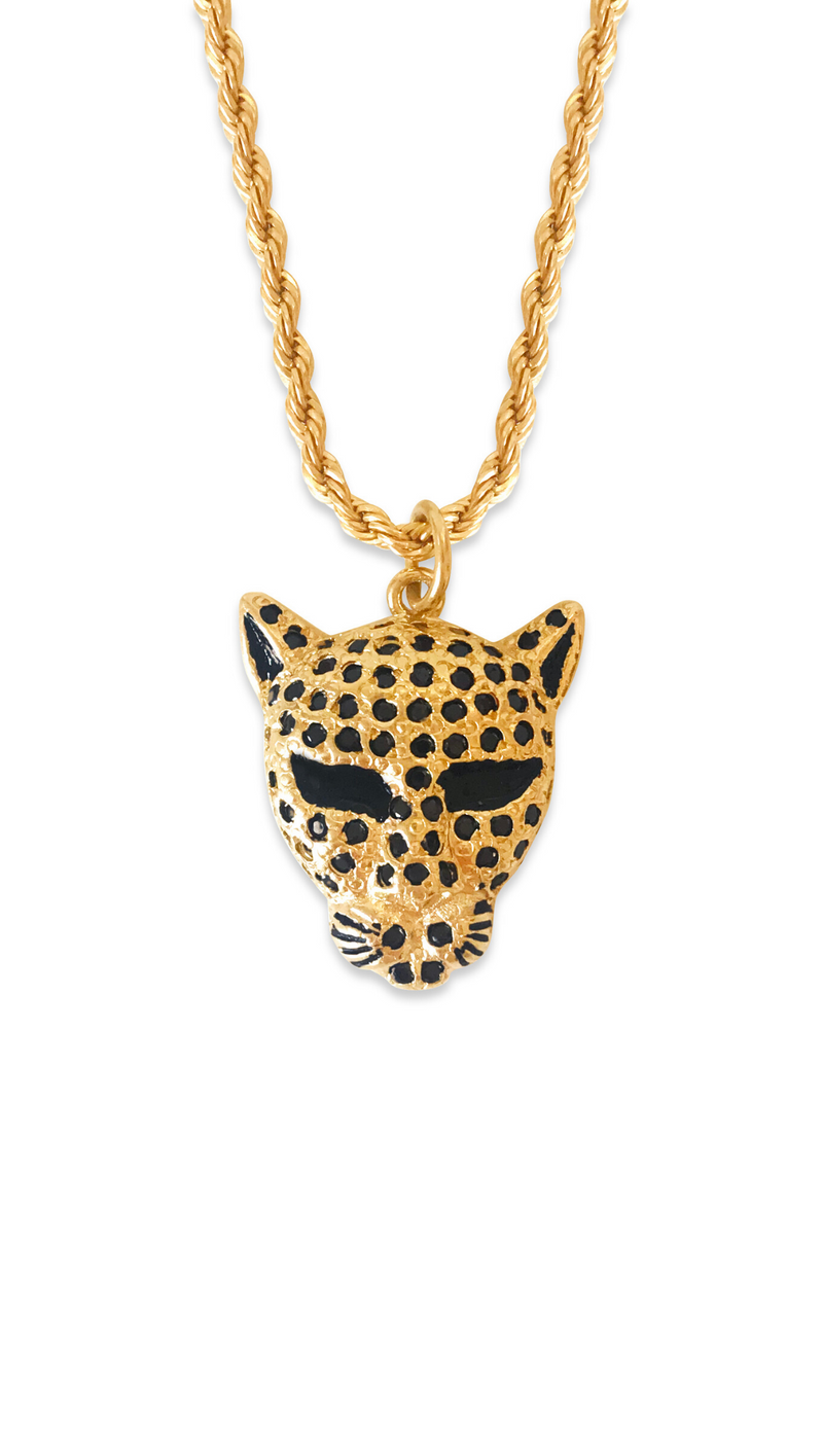 Erin Fader Gold Fill Panther Charm Necklace