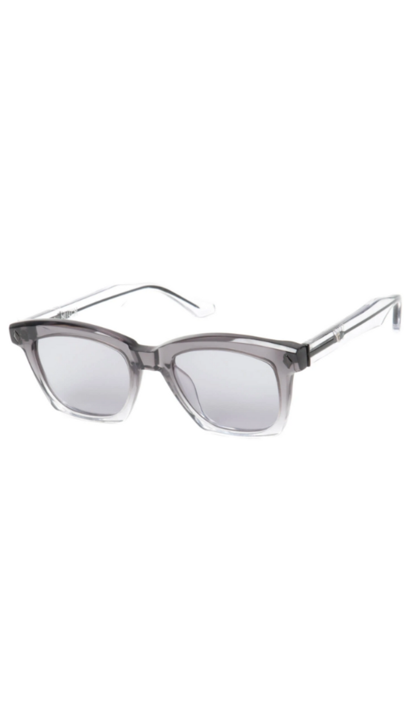 Hutch - Transparent Grey Fade to Clear w/ Clear Black Metal Trim/Grey Lens
