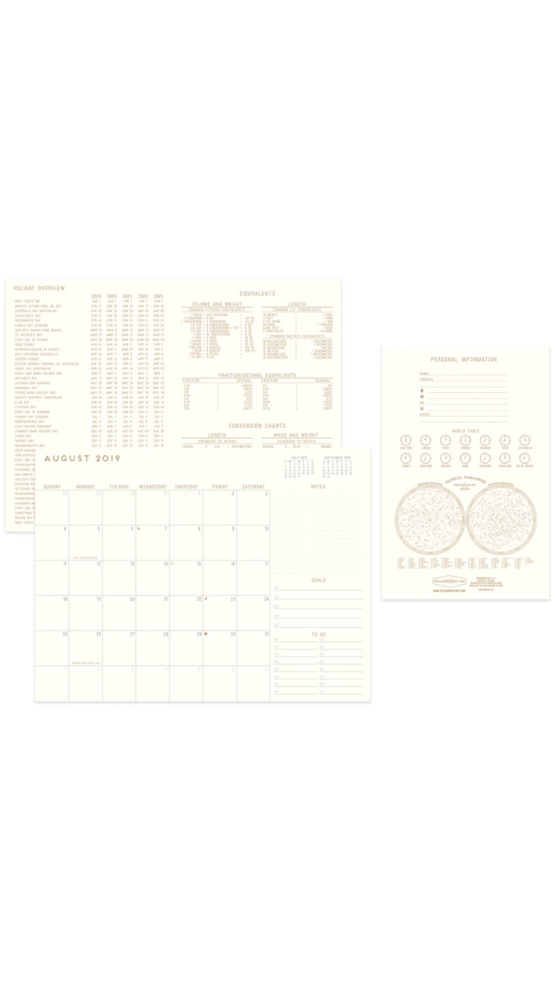 Bookcloth Flex Monthly Planner 19-20 - Sonora Geo Geo Plans