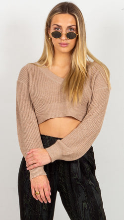 Animari knit sweater tan