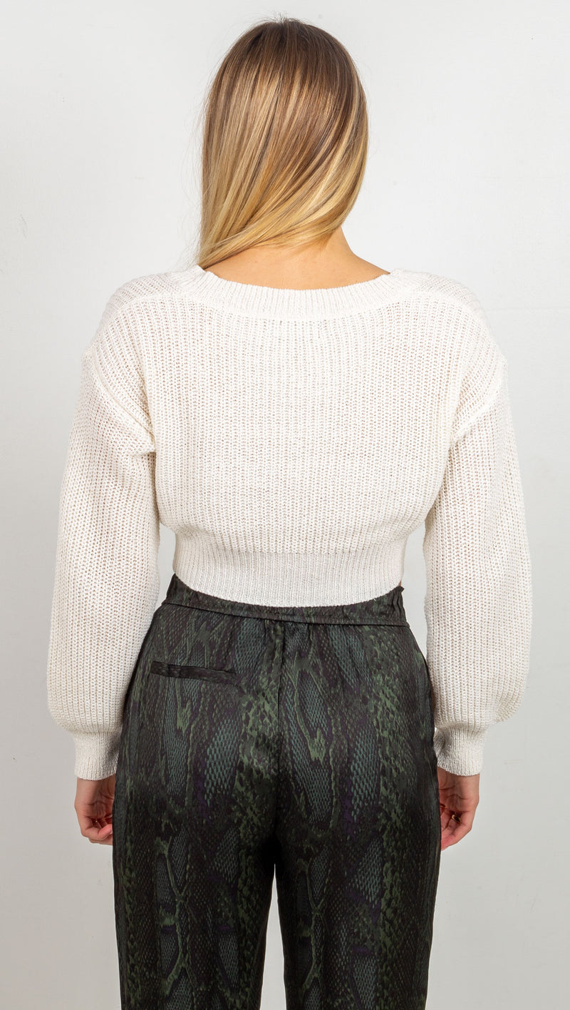 Brielle Knit Sweater - Off White
