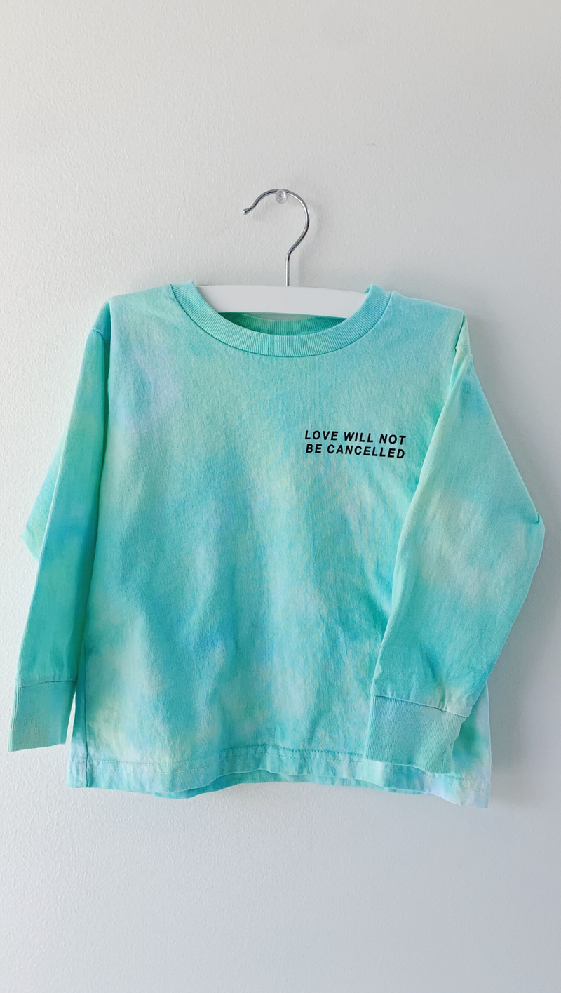 Love Will Not be Cancelled - Tie Dye Kids Longsleeve Tee