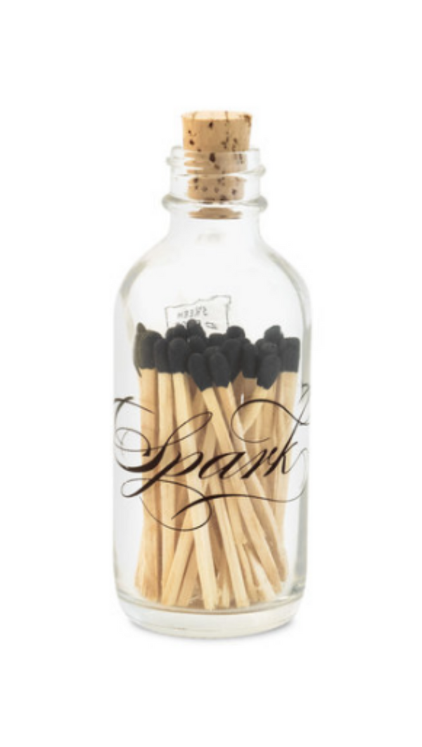 Skeem Design mini class bottle with cork and matches