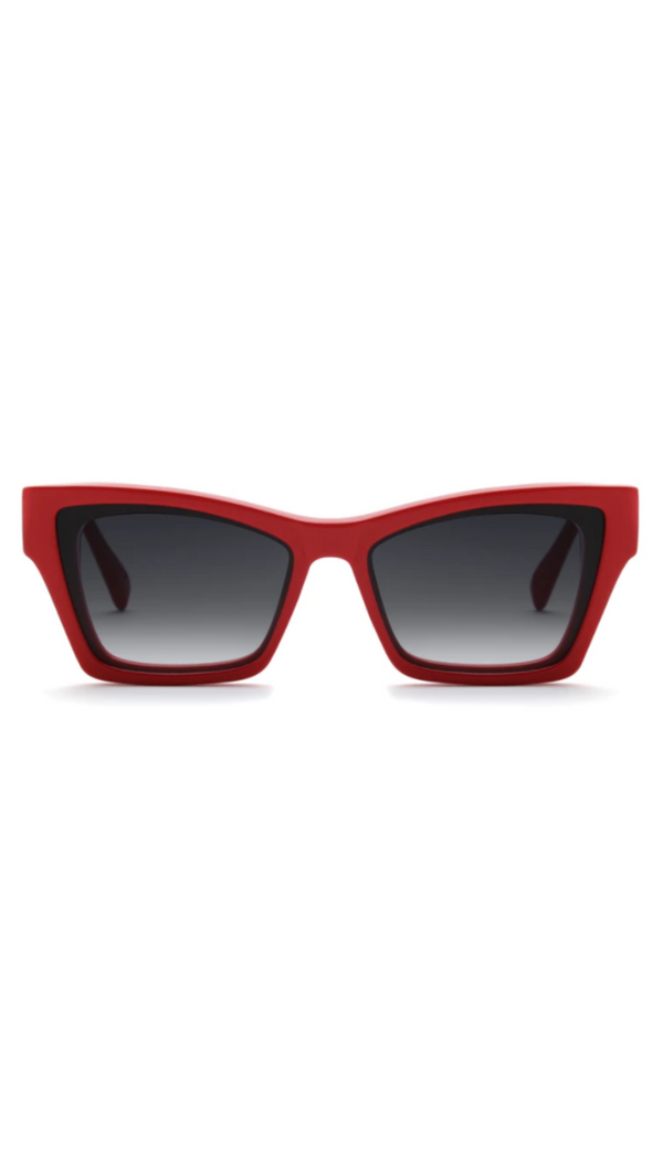 Saint Owen Slim Red Cat-Eye Sunglasses