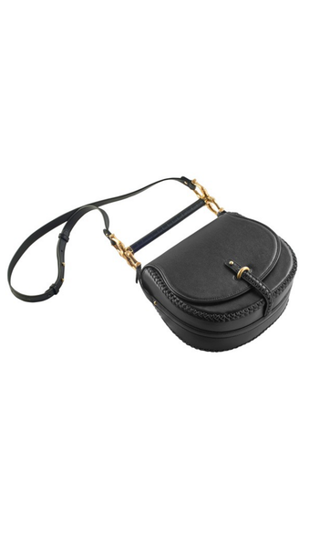 Black Bar Bag With Shoulder Strap